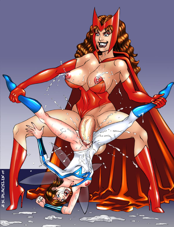 scarlet witch squad super hero Girl-chan in paradise