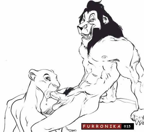 from girl king lion hyena Jibril no game no life gif
