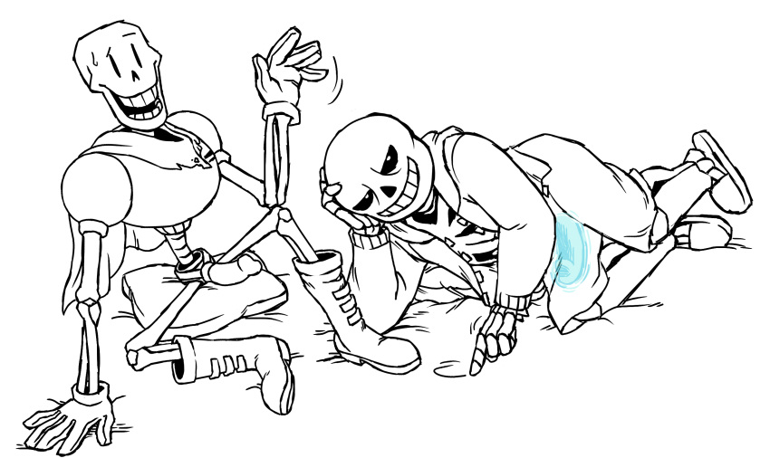 papyrus x frisk x sans 02 darling in the franxx