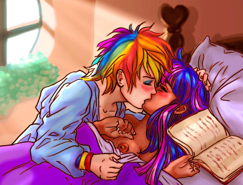twilight rainbow kissing dash and Pokemon sun and moon swimmers