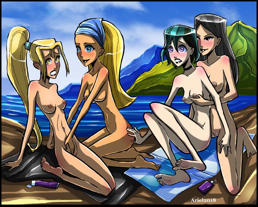 total gwen drama naked island Battle angel alita