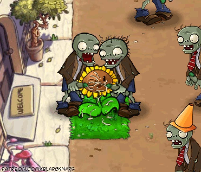 zombies dibujo de plantas vs Mai hime natsuki and shizuru