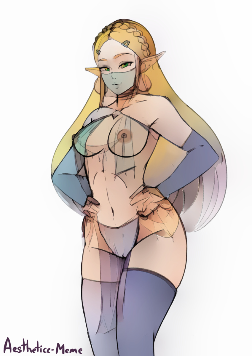 the link of gerudo breath wild Panty and stockings with garter belt