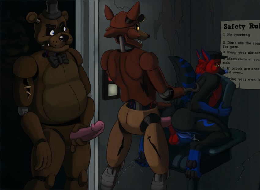 sex five night at freddy Love death and robots boobs
